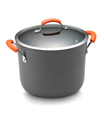 Orange 10-Qt. Covered Stockpot