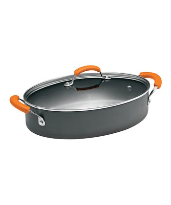 Orange 5-Qt. Covered Sauté Pot