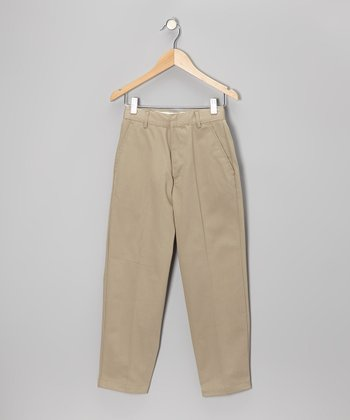 Khaki School Uniform Pants - Boys