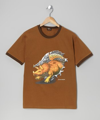 Brown 3-D Triceratops Tee
