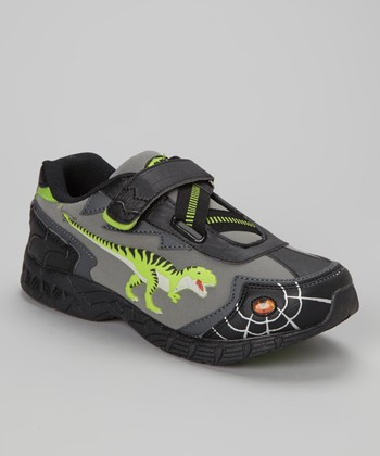 Lime 3-D Light-Up T-Rex Sneakers