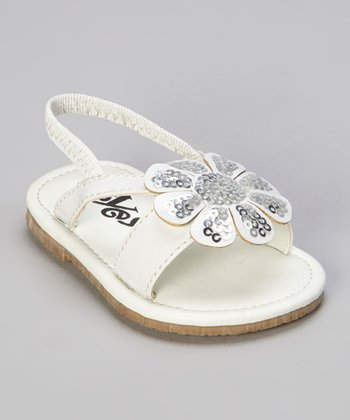 White Flower Sandal
