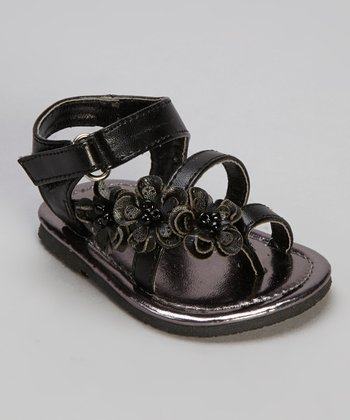 Black Pearl Flower Sandal