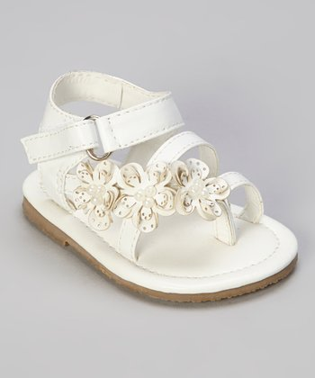 White Pearl Flower Sandal