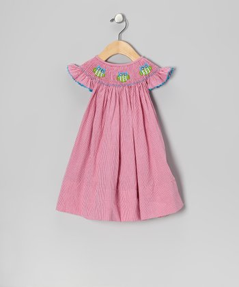 Pink Owl Gingham Dress - Infant & Girls