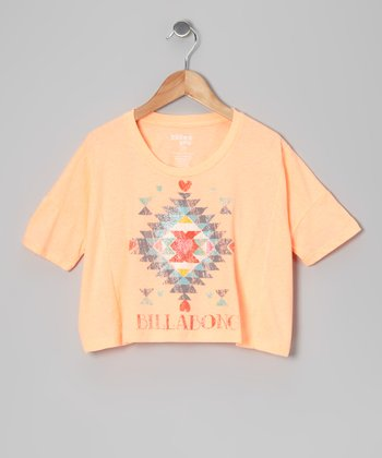 Just Peachy Puzzle Crop Top