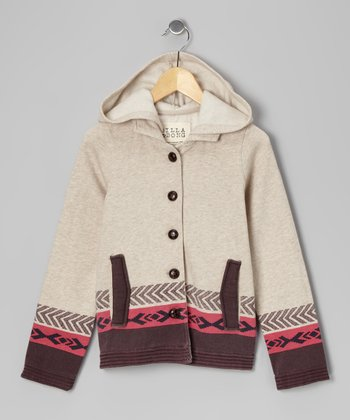 Oatmeal Heather Hooded Lyla Jacket