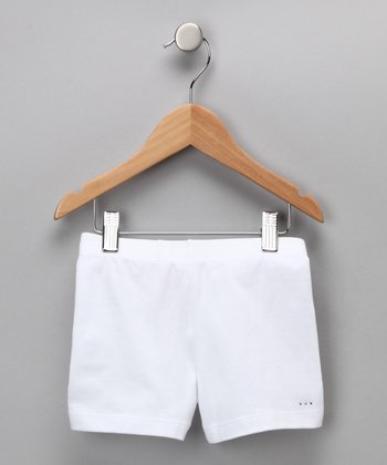 White Rhinestone Undershorts - Toddler & Girls