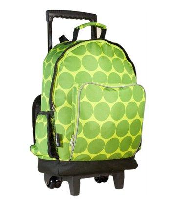 Wildkin Big Dots Green High Roller Rolling Backpack