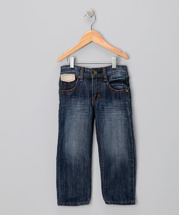 Denim Hand Brush Vintage Jeans - Toddler & Boys
