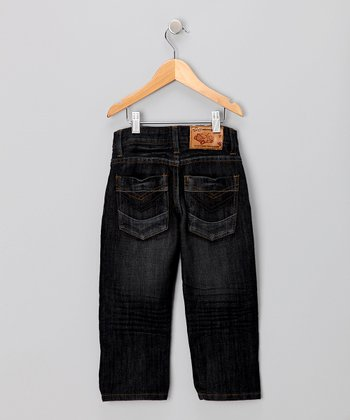 JB Original Vintage Dark Wash Hand-Brushed Jeans - Toddler & Boys