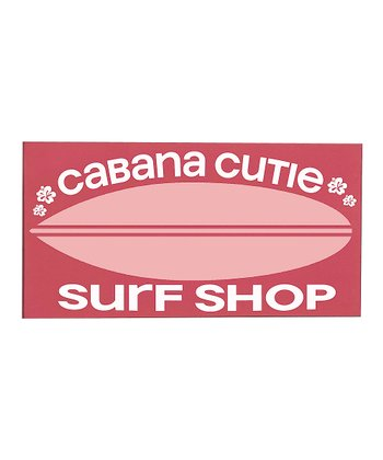 Pink & White 'Cabana Cutie' Surfboard Wall Art