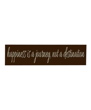 Brown & Cream 'Happiness' Wall Art