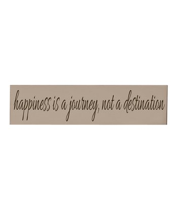 Taupe & Brown 'Happiness' Wall Art