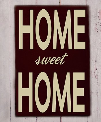 Brown & Cream 'Home Sweet Home' Wall Art