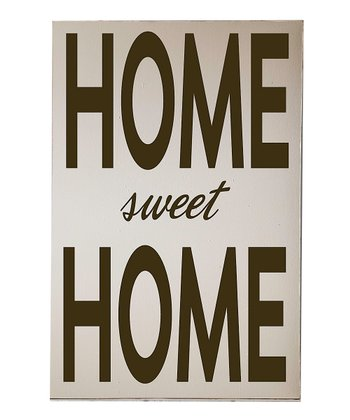 Cream & Brown 'Home Sweet Home' Wall Art