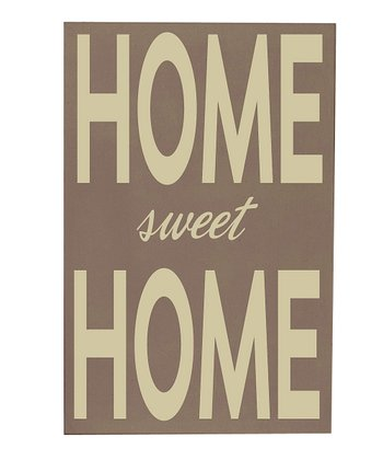 Sparrow & Cream 'Home Sweet Home' Wall Art