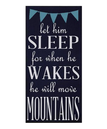 Navy & White 'Let Him Sleep' Wall Art