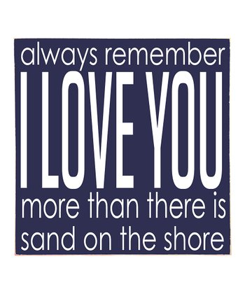 Navy & White 'I Love You' Wall Art