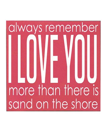 Pink & White 'I Love You' Wall Art