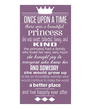 Purple & White 'Once Upon a Time' Wall Art