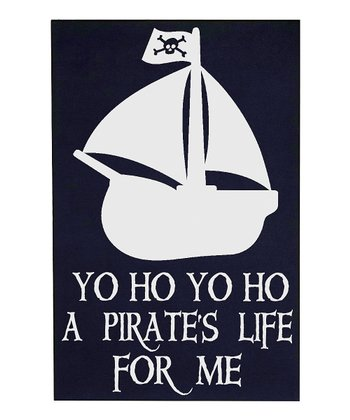 Navy & White 'Pirate's Life' Wall Plaque