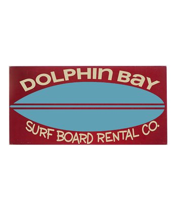 Red & Blue 'Dolphin Bay' Surfboard Wall Art