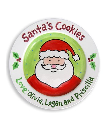 'Santa's Cookies' Personalized Plate