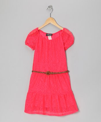 Coral Prairie Dress - Girls