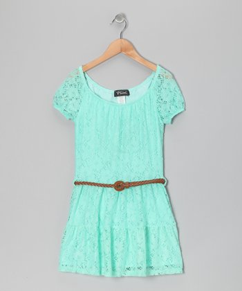Mint Prairie Dress - Girls