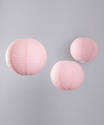 Light Pink Lantern - Set of Three