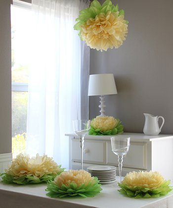 Yellow Flower Pom Set