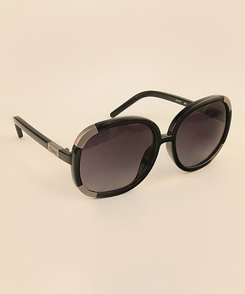 Black Gold Stripe Sunglasses