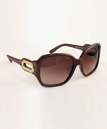 Old Pink Gilded Cutout Sunglasses