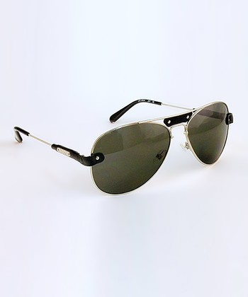 Black Pilot Band Sunglasses