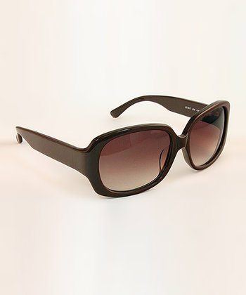 Brown Square Statement Sunglasses