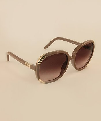 Old Pink Gilded Accent Sunglasses