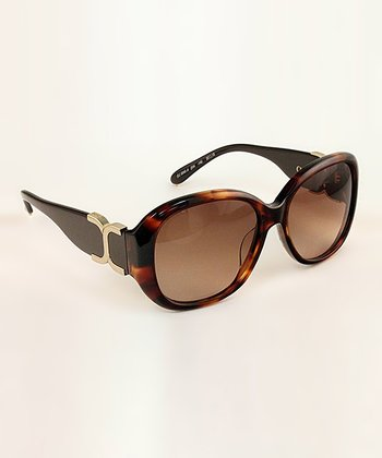 Dark Tortoise Double 'C' Sunglasses