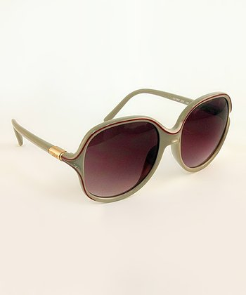 Beige Color Accent Sunglasses