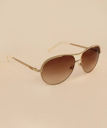 Ivory Contemporary Pilot Sunglasses