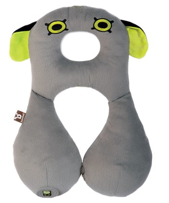 Gray Monster Travel Pillow