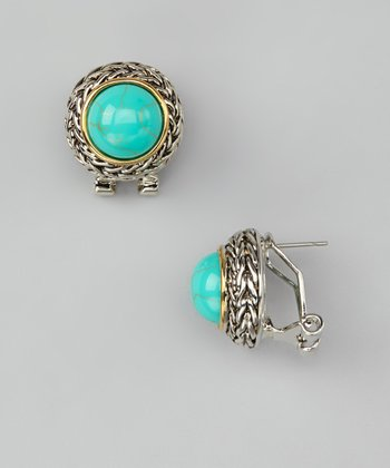 Turquoise Dome Stud Earrings