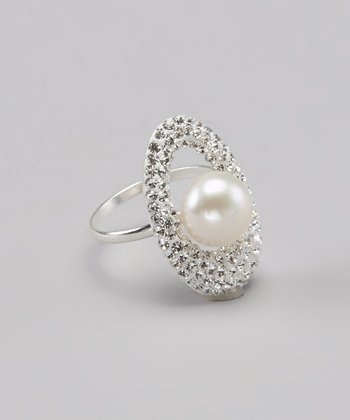 Platinum Pearl & Sterling Silver Ring