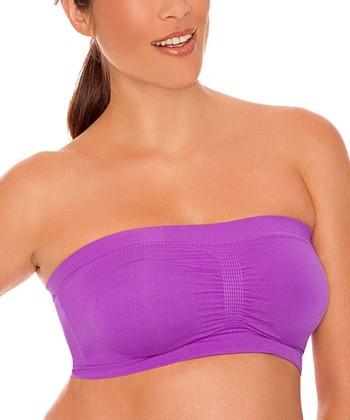 Lamaze Intimates Purple Seamless Padded Wireless Nursing Bandeau - Women