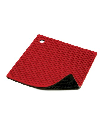 Red & Black Silicone Pot Holder/Trivet