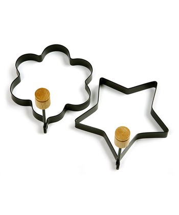 Flower & Star Nonstick Egg Ring Set