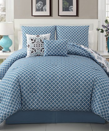 Blue & Brown Marisol Comforter Set