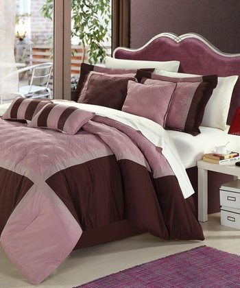 Rose Quincy Embroidered Comforter Set