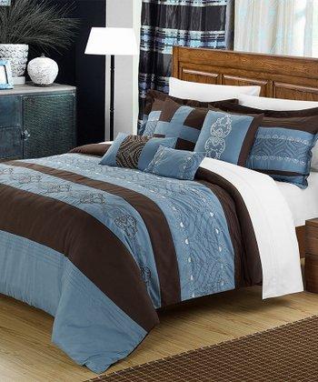 Blue Province Comforter Set