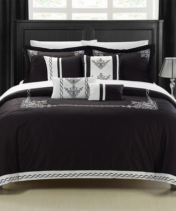 Black Athens Comforter Set